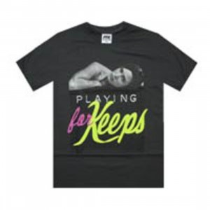 Playing For Keeps Chick Tee (grey)