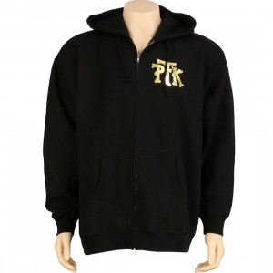 Playing For Keeps Foil Logo Zip Up Hoody (black)