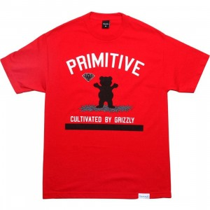 Primitive x Grizzly x Diamond Supply Co Cultivated Tee (red)