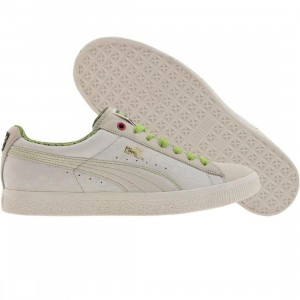 Puma Ed & Dre Clyde (white / lime green / beetroot purple)