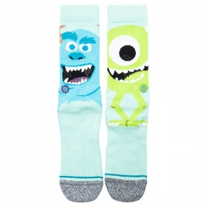 Stance x Pixar Men Monsters Inc Montropolis Socks (blue / turqoise)