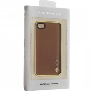 Skullcandy iPhone 4 And 4S Aviator Case (brown / gold)