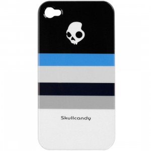 Skullcandy iPhone 4 And 4S Clip On Case (black stripe)