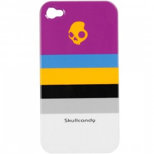 Skullcandy iPhone 4 And 4S Clip On Case (purple stripe)