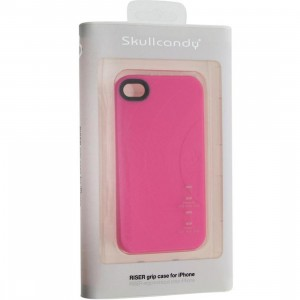 Skullcandy iPhone 4 And 4S Riser Grip Record Case (pink)