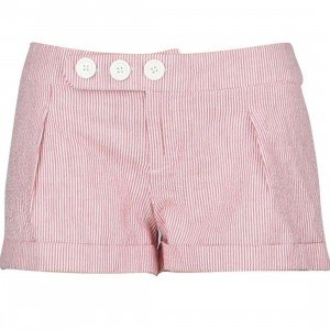 Stussy Womens Cuff Shorty Shorts (red / white)