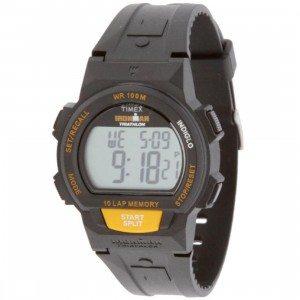 Timex 10 Lap Memory Chrono Watch (black / orange)