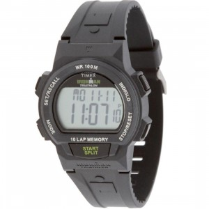 Timex 10 Lap Memory Chrono Watch (black / green)