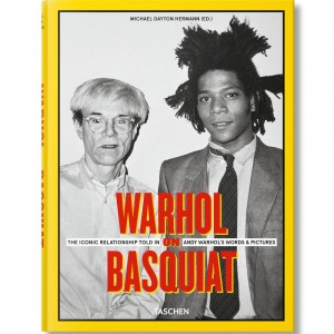 Warhol On Basquiat By Michael Hermann Book (yellow / hardcover)