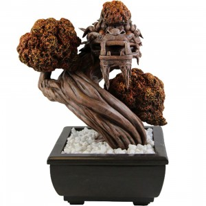 Sideshow Collectibles Limited Bonsai Dragon Fall Figure - by Patch Together (yellow / orange)