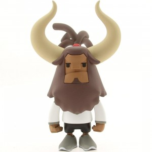 BAIT DesignerCon Exclusive Coolrain Baby Horns Running Horns Collectible Figure - Mighty Horn (grey / white)