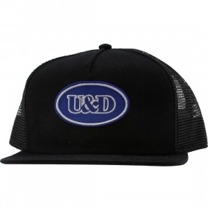 Undefeated U And D Patch Trucker Snapback Cap (black)
