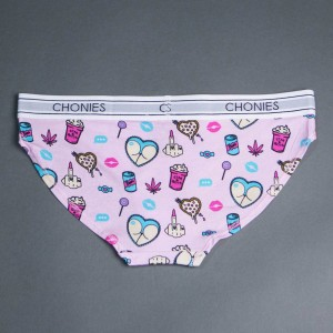 Chonies Women Vices Classic Brief (white / pink)