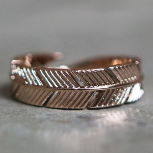 Mister Feather Ring (gold / rose gold)