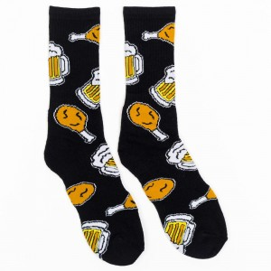40s And Shorties Chicken And Beer Socks (black)